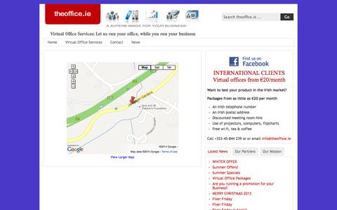 Screenshot of Maps & Directions Page theoffice.ie - Map | TheOffice.ie - captured Oct. 9, 2014