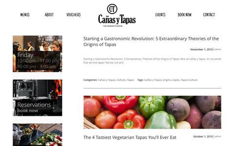 Screenshot of Blog canasytapas.co.uk - Blog - Cañas y Tapas - The Spanish Flavour - captured Feb. 12, 2016