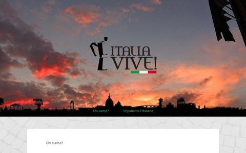 Screenshot of About Page tumblr.com - Chi siamo? - Italia Vive! - captured Sept. 11, 2014