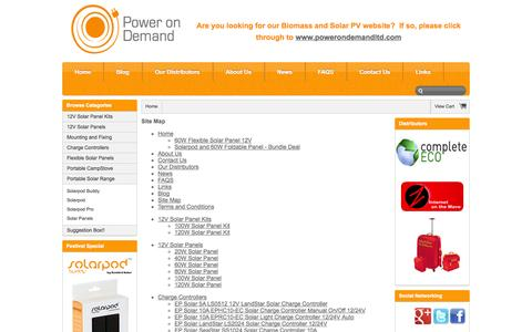 Screenshot of Site Map Page power-on-demand.co.uk - Sitemap - captured Sept. 30, 2014