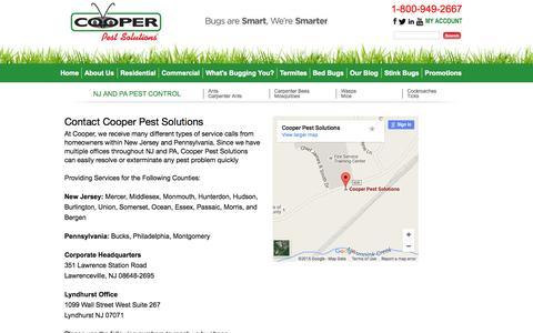 Screenshot of cooperpest.com - Pest Control NJ   Pest Control PA - captured Oct. 3, 2015