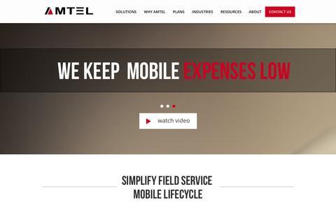 Screenshot of Home Page amtelnet.com - Mobile Security | Secure Communications | TEM | Amtel - captured Sept. 19, 2014