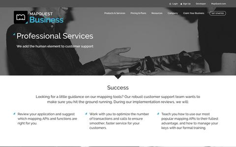 Screenshot of Support Page mapquest.com - The Geospatial Company for your Mapping API Needs   MapQuest for Business - captured Sept. 23, 2017