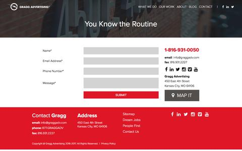 Screenshot of Contact Page graggadv.com - Contact Gragg Advertising Today! | Advertising | Marketing - captured Sept. 10, 2017