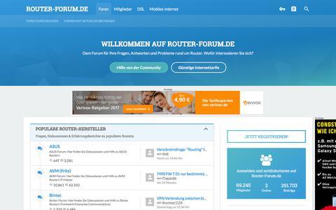 Screenshot of Home Page router-forum.de - Router-Forum.de - Fragen, Antworten, Probleme und Lösungen rund um Router - captured Sept. 22, 2018