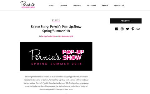 Screenshot of Blog perniaspopupshop.com - Pernias Pop Up Shop-Blog | Fashion, Lifestyle, Interviews, Events, Shopping. - captured Sept. 23, 2018