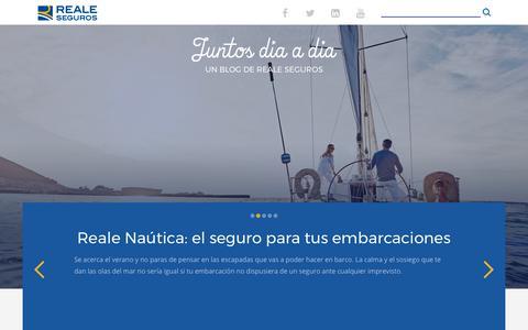 Screenshot of Blog reale.es - Home - Reale Blog : Reale Blog - captured June 28, 2017
