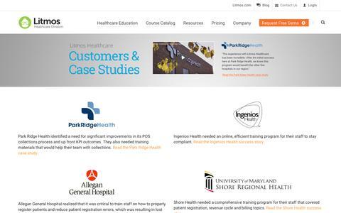 Screenshot of Case Studies Page litmos.com - Customers & Case Studies   Litmos LMS - captured July 30, 2016