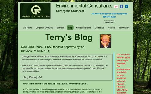 Screenshot of Blog geologicalresourcesinc.com - Geological Resources, Inc. Blog by Terry Kennedy - captured May 16, 2017