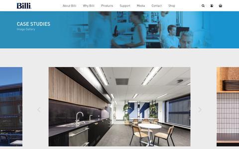 Screenshot of Case Studies Page billi.com.au - Case Studies with Water Filter Systems - Billi Australia - captured Oct. 5, 2018