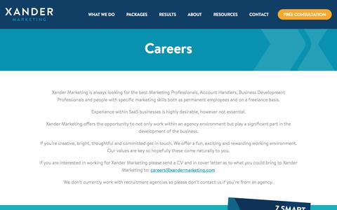 Careers in SaaS Marketing | Xander Marketing