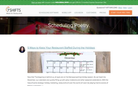 Blog of Scheduling Poetry   7shifts