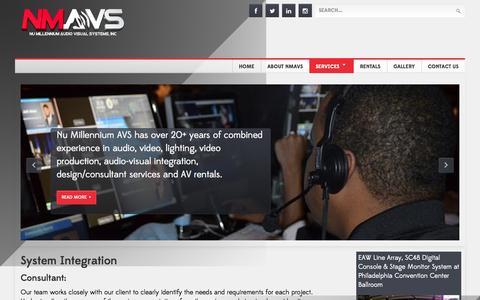 Screenshot of Services Page nmavs.com - System Integration - captured Nov. 5, 2014