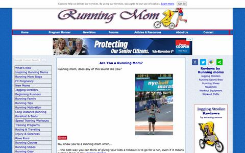 Screenshot of Home Page running-mom.com - Running Mom, Share Your Passion with Your Newborn - captured Oct. 30, 2018