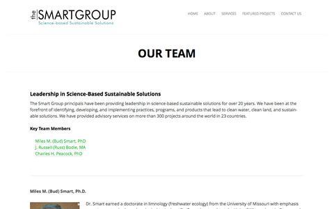 Screenshot of Team Page thesmartgroupinc.com - Our Team | - captured April 9, 2016