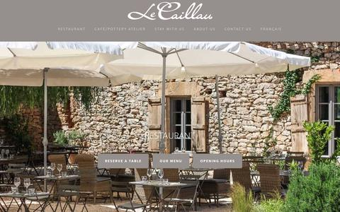 Screenshot of Menu Page lecaillau.com - The restaurant - captured July 17, 2018