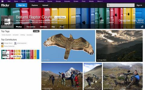 Screenshot of Flickr Page flickr.com - Flickr: The Batumi Raptor Count Pool - captured Oct. 23, 2014