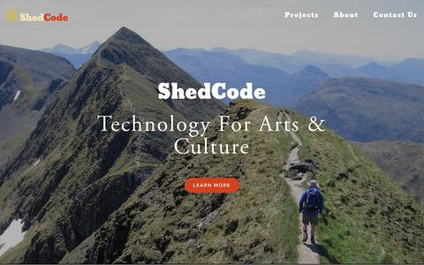 Screenshot of Home Page shedcode.co.uk - ShedCode - captured Sept. 13, 2015
