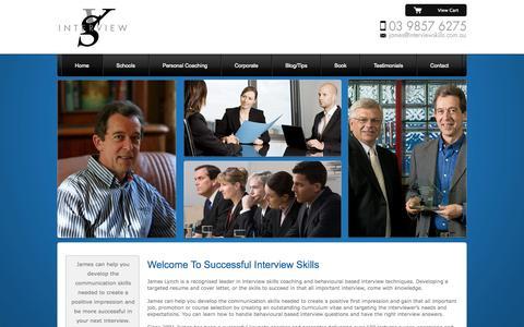 Screenshot of Home Page interviewskills.com.au - Successful Interview Skills - captured Sept. 30, 2014