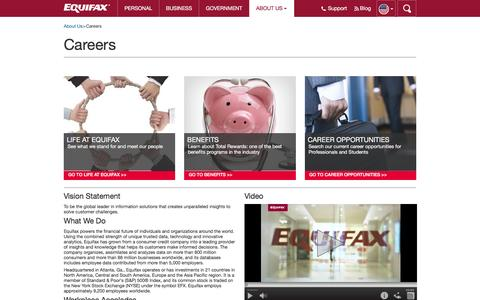 Careers | About Us | Equifax