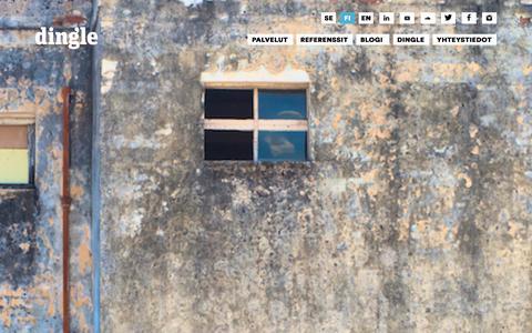 Screenshot of Home Page dingle.fi - Dingle   Making business social - captured Jan. 7, 2016