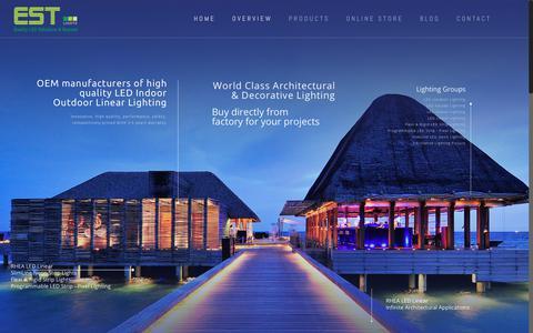Screenshot of Home Page est.net.in - Indoor outdoor led lighting * Architectural linear lighting solution by EST Lights - captured Nov. 9, 2018