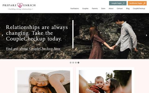 Screenshot of Home Page prepare-enrich.com.au - PREPARE/ENRICH is the leading relationship inventory and skill-building program used nationally and internationally - captured Nov. 9, 2018