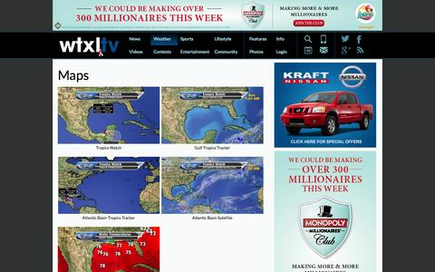 Screenshot of Maps & Directions Page wtxl.com - Tallahassee News | ABC 27 WTXL: Maps - captured Oct. 26, 2014