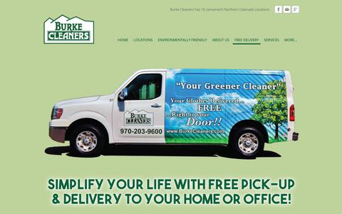 Screenshot of Signup Page burkecleaners.com - Free Pick-Up and Delivery - captured Dec. 9, 2018