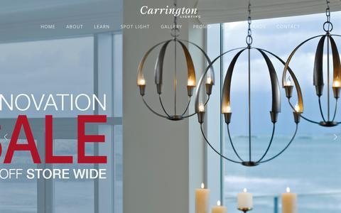 Screenshot of Home Page carringtonlighting.com - CARRINGTON LIGHTING - captured July 19, 2015