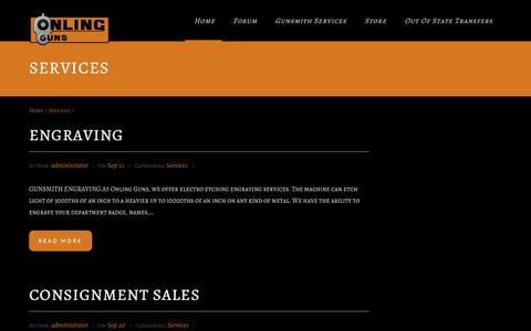 Screenshot of Services Page onlingguns.com - Services Archives - Onling GunsOnling Guns - captured Feb. 25, 2016