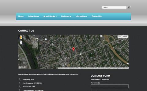 Screenshot of Contact Page fairlawnpd.com - Fair Lawn, NJ Police Dept. - captured Oct. 5, 2014