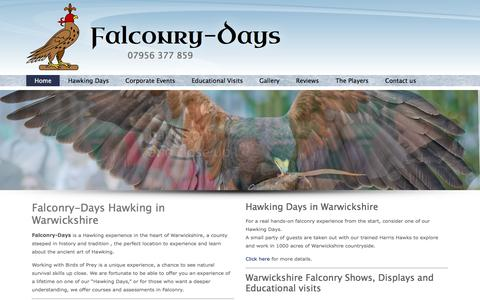 Screenshot of Home Page falconry-days.com - Falconry-Days | 07956 377 859Falconry-Days | 07956 377 859 - captured Feb. 9, 2016