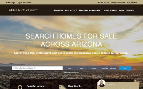 Screenshot of Home Page c21northwest.com - CENTURY 21 Northwest Realty - Glendale AZ Real Estate - captured Sept. 22, 2018