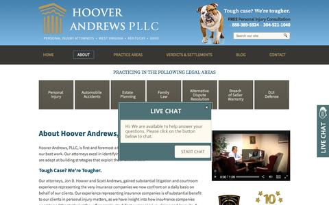 Screenshot of About Page hooverandrews.com - Our Attorneys | Barboursville, WV | Hoover Andrews PLLC - captured May 22, 2017