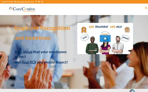 Screenshot of Home Page corecentive.com - Employee Recognition is a key to your success Ι CoreCentive - captured July 3, 2019