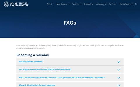 Screenshot of FAQ Page wysetc.org - FAQs - WYSE Travel Confederation - captured Dec. 17, 2017