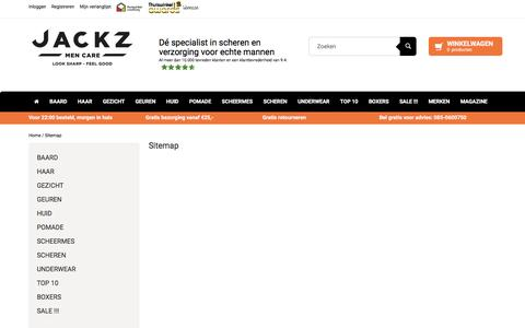 Screenshot of Site Map Page jackz.nl - Sitemap - Jackz - captured May 25, 2017