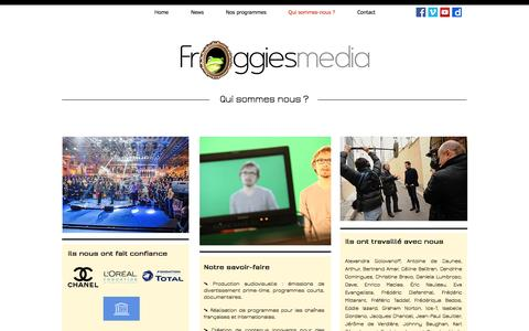 Screenshot of About Page froggiesmedia.com - Qui sommes-nous ? - captured May 10, 2017