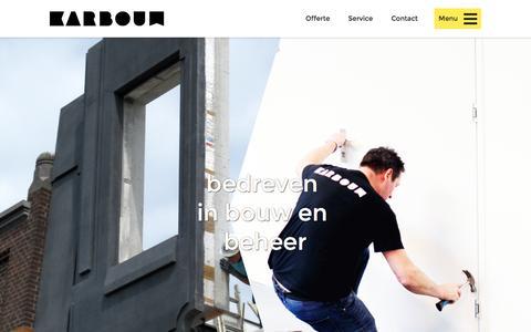 Screenshot of Home Page karbouw.nl - Karbouw   bedreven in bouw en beheer - captured Nov. 27, 2016