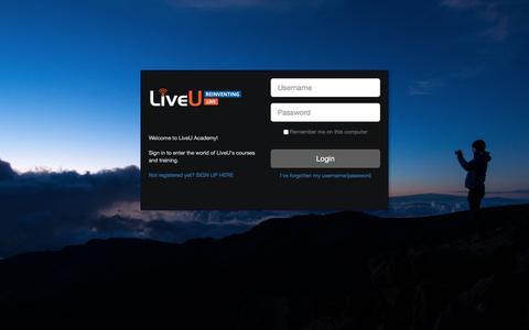 Screenshot of Login Page liveu.tv - learn.liveu.tv         -         Secure login - captured Sept. 19, 2018