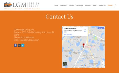 Screenshot of Contact Page lgmdesign.com - LGM Design Group | Contact Information - captured July 10, 2017
