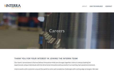 Screenshot of Jobs Page interraenergy.com - Careers — Interra Energy Services - captured Oct. 12, 2018