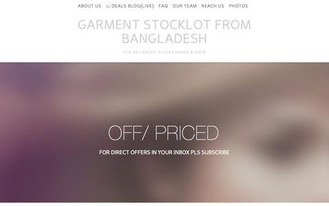 Screenshot of Site Map Page offpriced.com - SITEMAP-Garment stocklot from Bangladesh Landed in USA Canada and India - captured Oct. 29, 2014