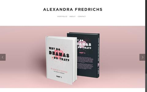 Screenshot of Home Page alexandrafredrichs.com - Alexandra Fredrichs | Omaha, NE | Graphic Design & Print Design - captured June 18, 2015