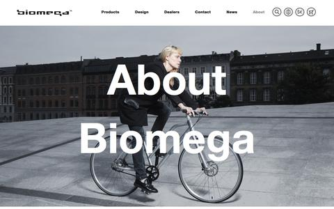 Screenshot of About Page biomega.com - About - Biomega - Unique danish bike design - captured Aug. 2, 2018