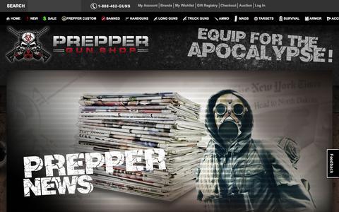 Screenshot of Press Page preppergunshop.com - Prepper Guns Blog Prepper Gun Shop - captured Jan. 18, 2016