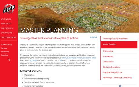 Master Planning & Project Development Services - Bechtel