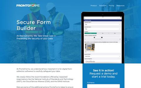 Secure Form Builder