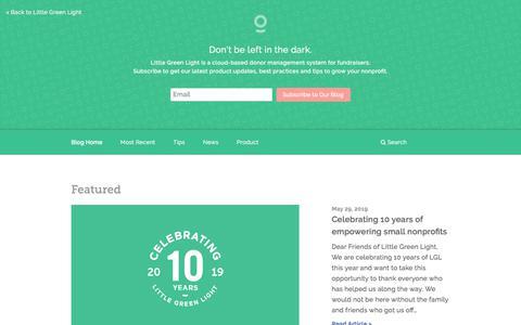 Screenshot of Blog littlegreenlight.com - Blog • Little Green Light - captured Aug. 29, 2019